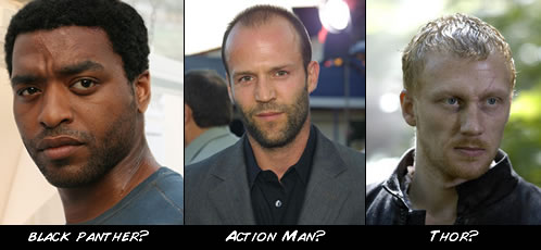 ¿Black Panther, Action Man y Thor?